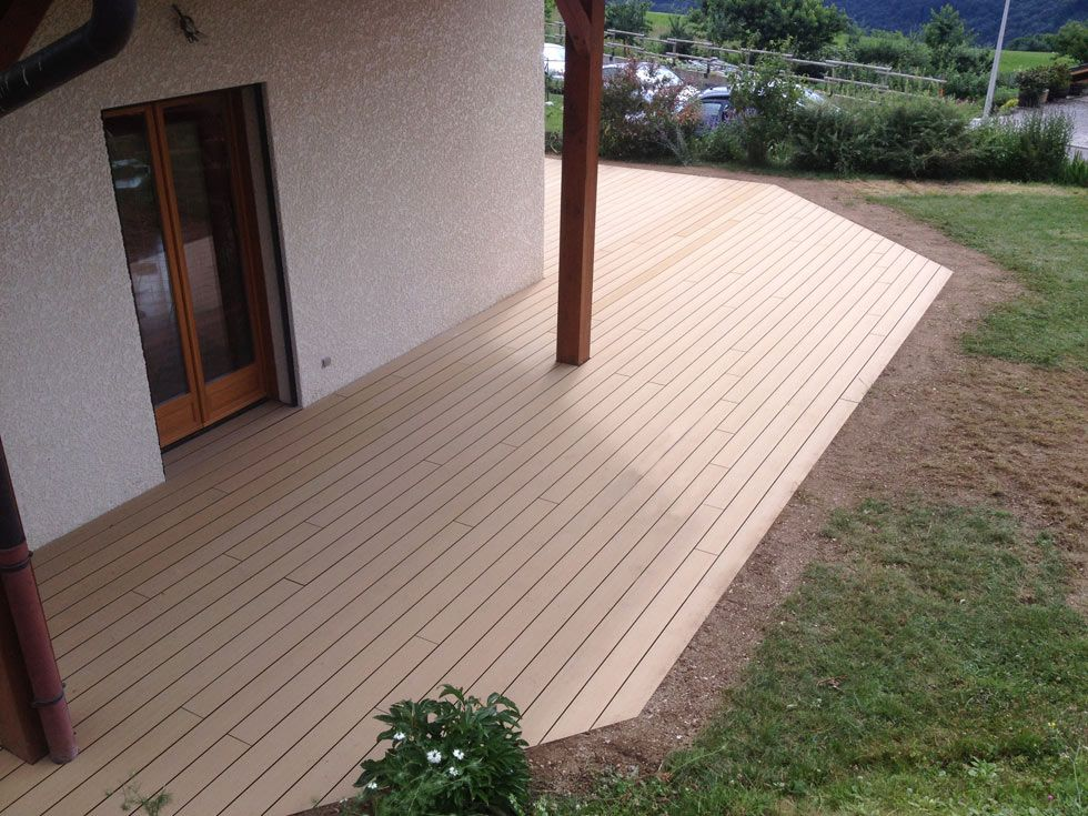 Terrasse en bois composite rainur for On the terrasse
