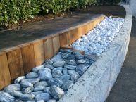 Murêt bois & galets décoratifs