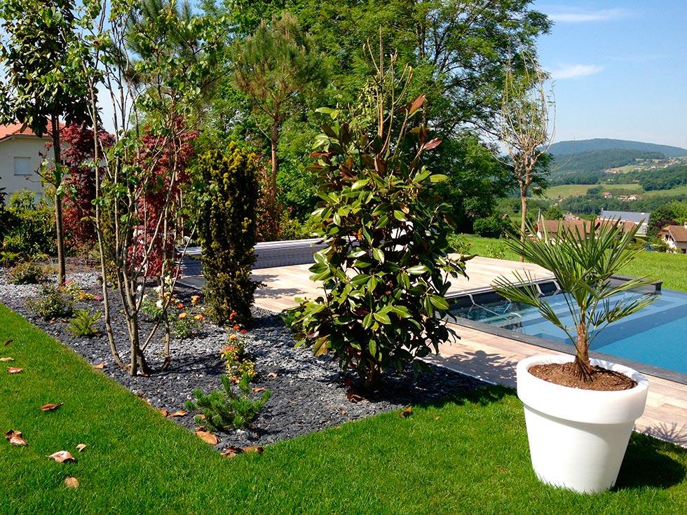 Amenagement paysager jardin accueil design et mobilier for Amenagement jardin paysager