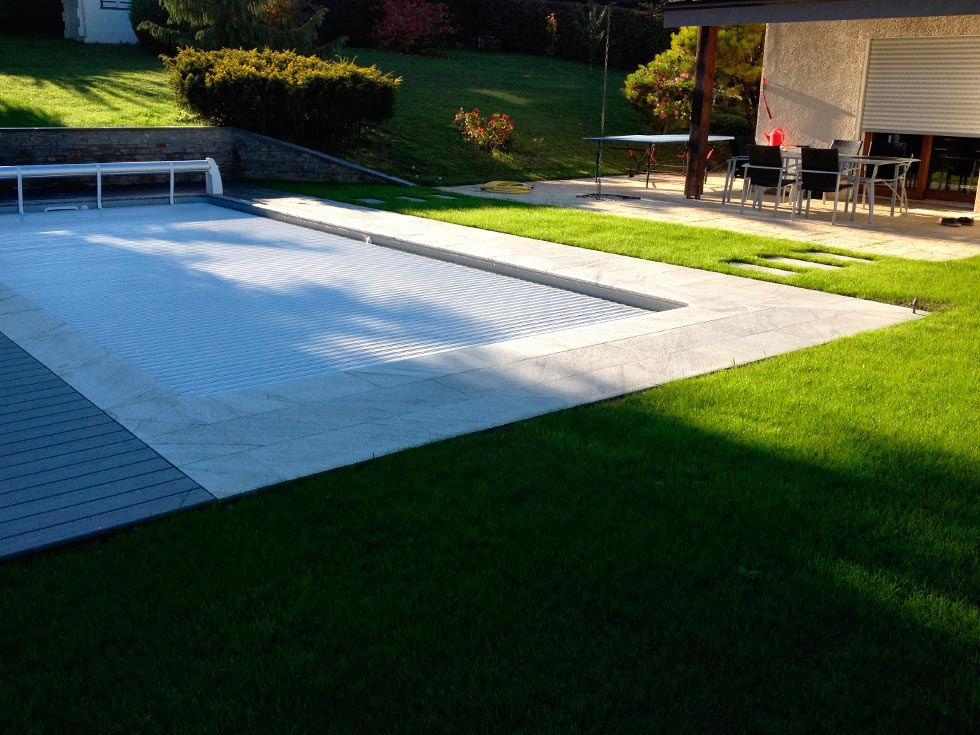 Amenagement piscine composite for Piscine bois composite