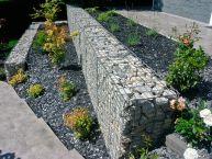 Aménagement d'un talus avec mur gabions