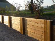 Murêt bois (poutres paysagères autoclaves)